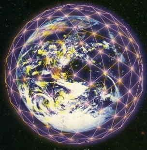 地球水晶格柵