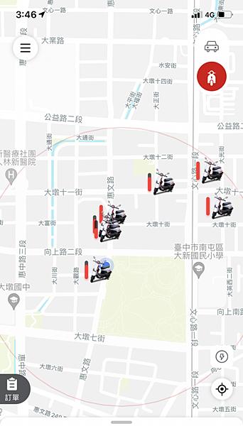 機車附近車輛