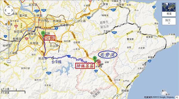 新北市坪林區Map