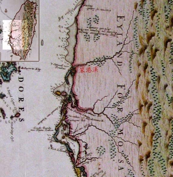 西元1724年,由荷蘭人Johannes Vingboons所繪製的古代台灣地圖