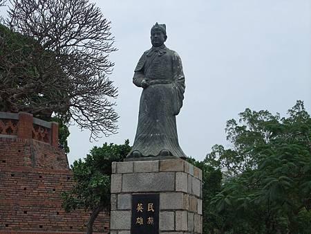 安平古堡旁的鄭成功雕像