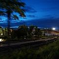 搭火車返回曼谷,傍晚沿途風景