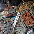 金山老街的地瓜攤
