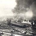 遭到美軍B-25轟炸的嘉義化學工場