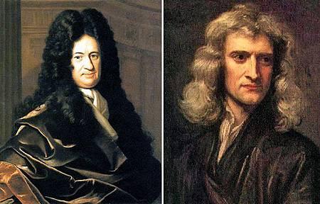 萊布尼茲、牛頓
