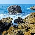 礁岩與浪花