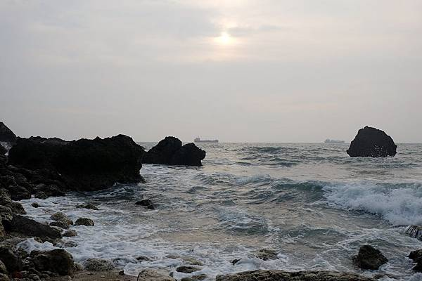 秘境日落的海岸風光