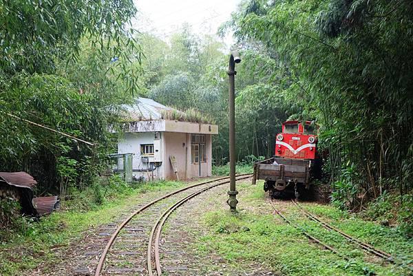 多林車站、水鶴與火車頭