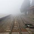 雲霧濃厚的二萬坪車站