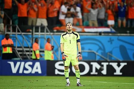 痛失5球的西班牙門將Iker Casillas
