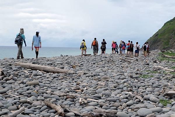 鵝卵石灘岸