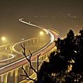 中港系統交流道,濃霧剪影