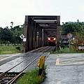 阿里山小火車通行牛稠溪橋