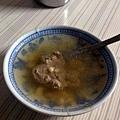 沖入大骨湯的獨特吃法