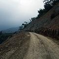 臨時修築出來的絕壁道路