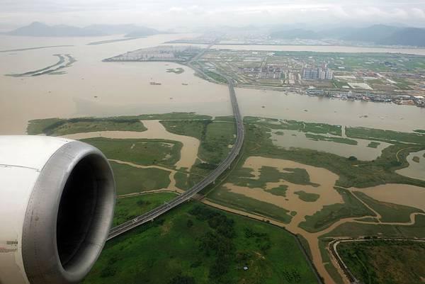 鳥瞰洛東江出海口