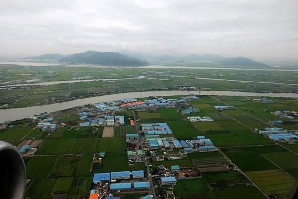 洛東江與三角洲平原風景