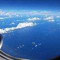 從飛機上鳥瞰彭佳嶼