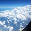 陸地上積雲高度堆積