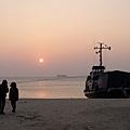 南竿馬港海邊的夕照,系列之一