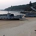馬港攤頭上的登陸艇