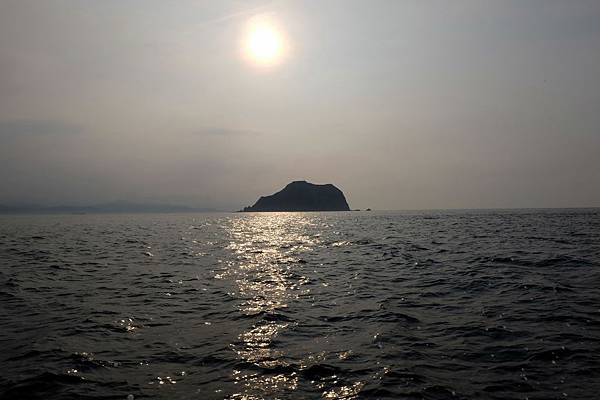 日落西方基隆嶼