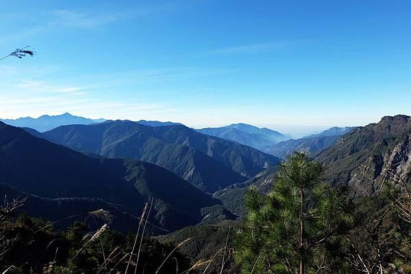 玉山步道展望風景