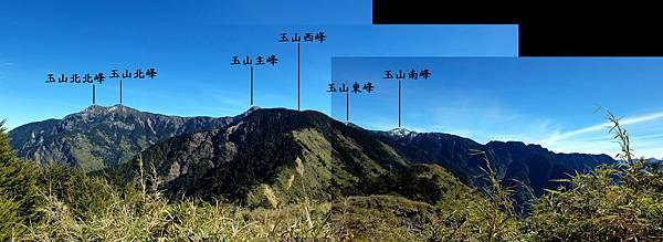 玉山前峰山頂展望風景