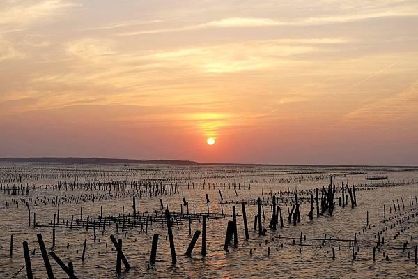 七股潟湖夕陽