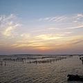 潟湖夕景之美