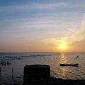 七股潟湖夕景