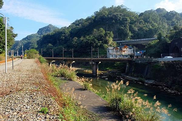 宜蘭線鐵道跨越基隆河