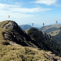 前往合歡西峰要經過六座山頭
