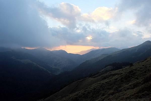 合歡山的黃昏