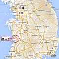韓國全羅北道群山市Map