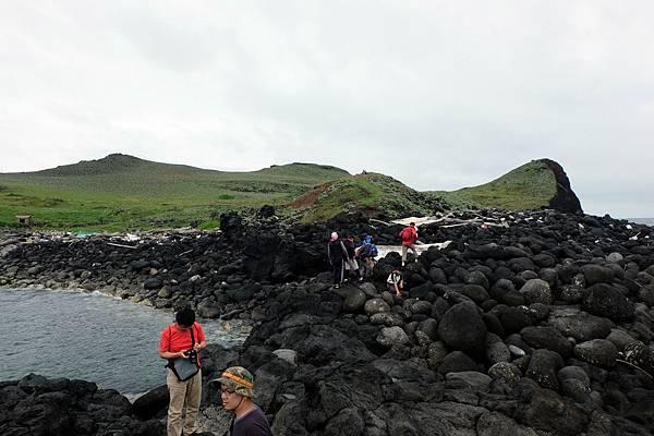 棉花嶼西北方登島處