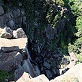 沒有高落水的山海瀑布