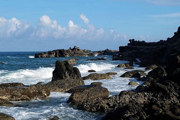 海岸礁石亂堆