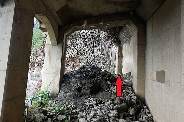 第1號明隧道東端崩塌口