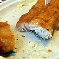 炸鱈魚斷面秀