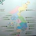韓國面具分布圖