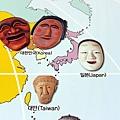 東北亞各國代表面具