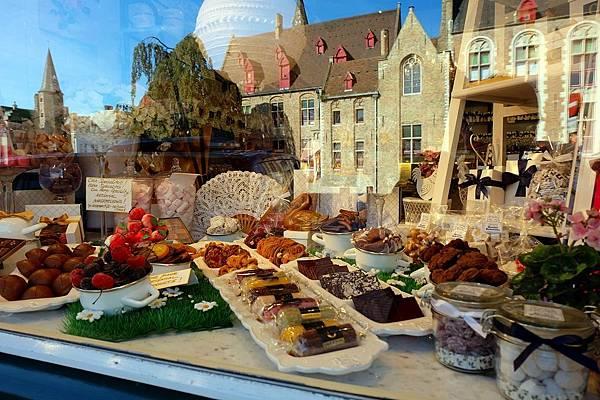 比利時巧克力店櫥窗