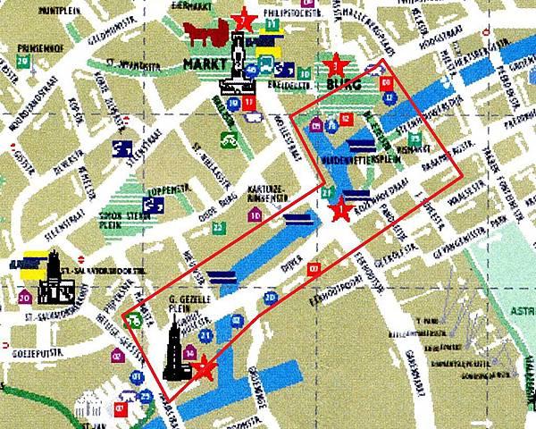 玫瑰園碼頭與綠色運河位置圖