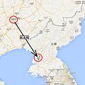 北朝鮮旅行Map1