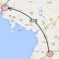 北朝鮮旅行Map4