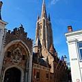 布魯日聖母教堂一景