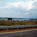 往板門店途中,漢江對岸為北韓領土