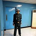 門前衛兵,門外就是北韓