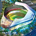 2007年八月的球場設計圖並非室內球場